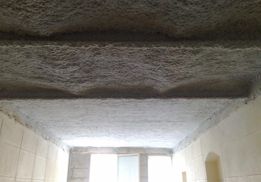flocage coupe feu plafond plancher en brique pleine ou creuse