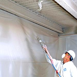 flocage pateux flocage fibreux isolation par flocage traitement coupe feu