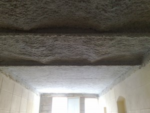 flocage coupe feu sur plancher plafond en brique pleine ou creuse