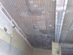 flocage coupe feu sous plancher mixte bois platre