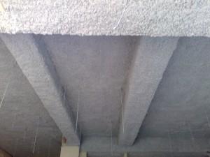 Flocage coupe feu 1 heure et 2 heures plafond en béton