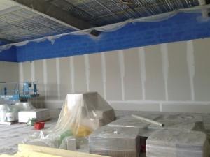 préparation avant flocage sous toiture