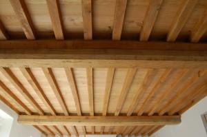 plafond bois a traiter en flocage coupe feu